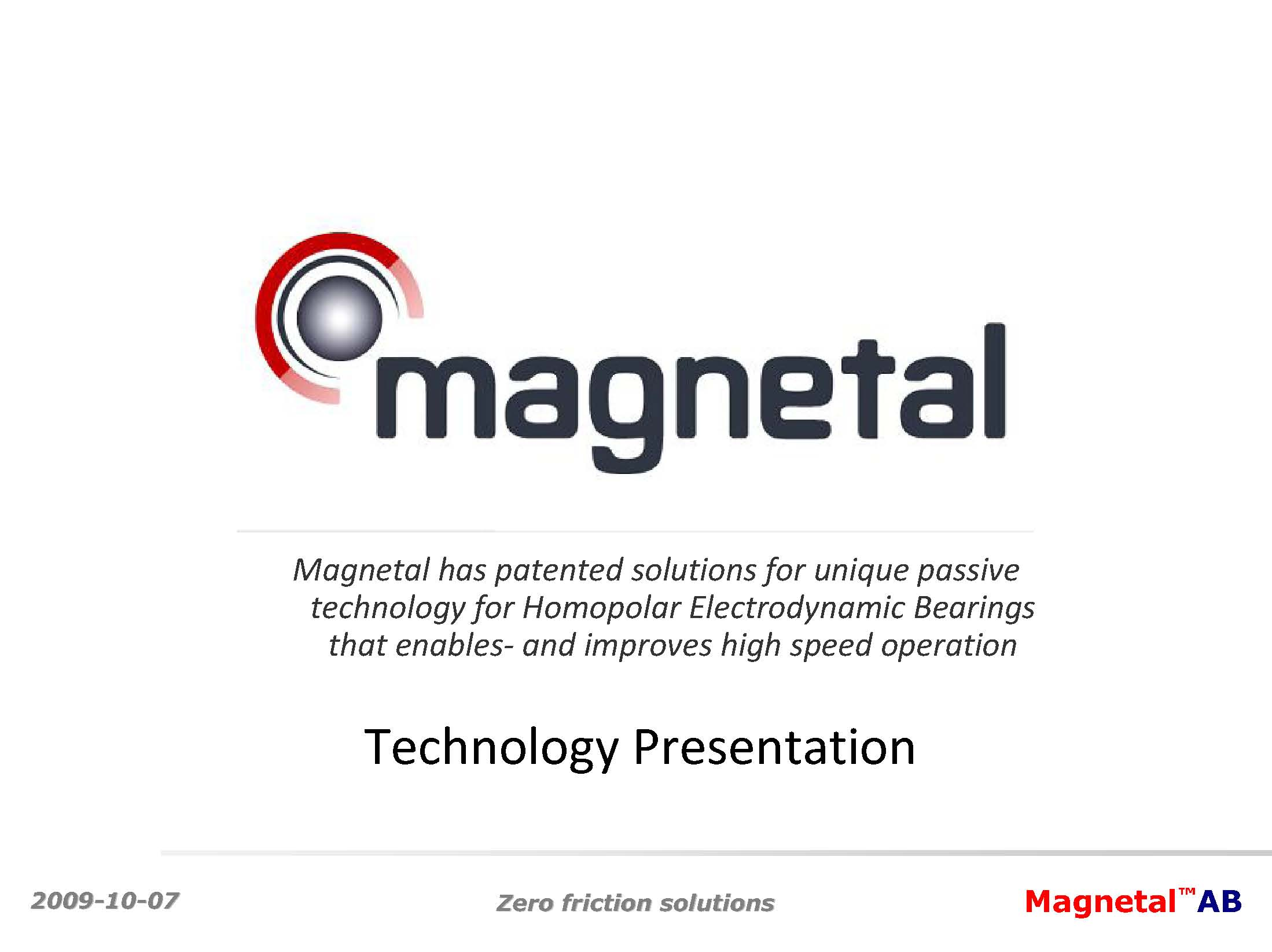 Magnetal Technology Presentation